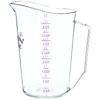 Cambro - 400MCCW441 - 4 Qt Allergen Free Measuring Cup by Cambro