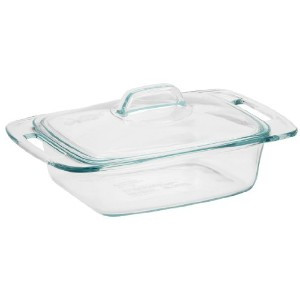 Pyrex Easy Grab 2-Quart Casserole Glass Bakeware Dish with Glass Lid by Pyrex