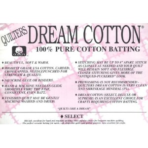 Quilter's Dream Cotton Batting - Natural Select-Mid Loft-Queen by Quilter's Dream Cotton Batting