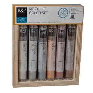 R&F Handmade Paints Pigment Sticks, Metallic Colors, Set Of 6 by R&F Handmade Paints