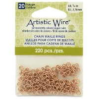 Artistic Wire 20-Gauge Natural Chain Maille Rings, 7/64-Inch Diameter, 220- Pieces by Beadalon ...