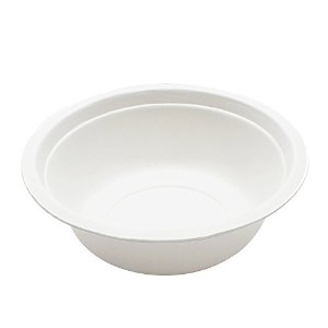 Durable Bagasse Eco-Friendly Rice Bowls 16oz Bowls - Microwave Safe, Compostable, Made from...