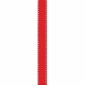 Offray Sidesaddle Craft Ribbon, 5/8-Inch x 9-Feet, Red & White by Offray