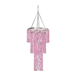 ZAPPOBZ HLL1103 Jeweled Tiered Chandelier, Pink by ZAPPOBZ