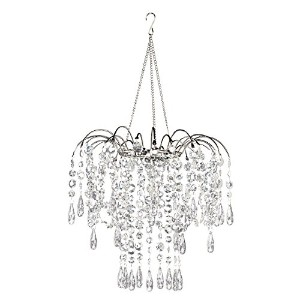 ZAPPOBZ HLLWF3 Swag Waterfall Chandelier, Silver by ZAPPOBZ