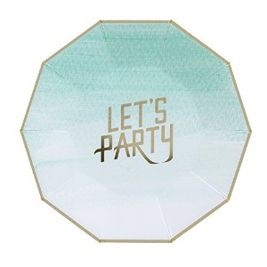 Fire and Creme Let 's Party Foiled Paper Plates–8のパック L