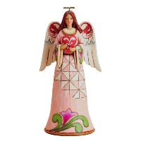 Enesco Jim Shore Heartwood Creek Love Angel Holding Heart Figurine, 10-Inch [並行輸入品]