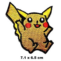 Pikachu in Pokemon Game Kid Baby patch Iron on Logo Vest Jacket cap Hoodie Backpack Patch Iron On...
