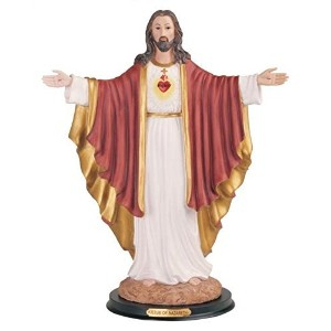 StealStreet SS-G-316.33 Sacred Heart of Jesus Holy Figurine Religious Decoration Decor, 16' [並行輸入品]