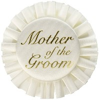 Beistle 60482 Mother of The Groom Satin Button, 3-1/2-Inch