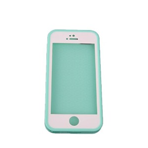 Dovewill iphone5 5S用  ソフト TPU 防水 バッグ ケース カバー  落下防止 保護 クリア 全8色 - グリーン