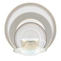 Nikko Lattice Gold 5- Piece Placesetting by Nikko Ceramics