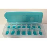 Tupperware Fresh & Pure Ice Cube Tray Flexible Silicone Bottom Blue NEW by Tupperware