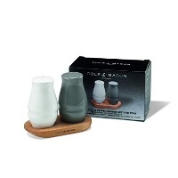 Cole & Mason Ceramic Salt and Pepper Shakers with Wood Tray by Cole & Mason