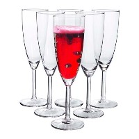 IKEA - SVALKA Champagne flute, clear glass (X6) by Ikea