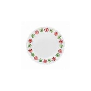 """Corelle Impressions Cheerful Flurry 4Piece 10.75""""プレートセット"""
