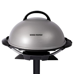 George Foreman GFO240S Indoor/Outdoor Electric Grill, Silver [並行輸入品]