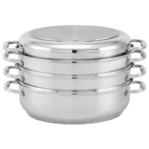 Beka Cookware Oval Stainless Steel Roaster/Steamer Set with Lid, 15-Inch [並行輸入品]