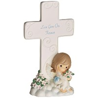 Precious Moments 85263 Cross & Figurine Love Goes On Forever by Precious Moments [並行輸入品]