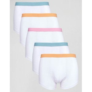 asos エイソス trunks with pastel waistband 5 pack save ナイトウエア 下着 インナー