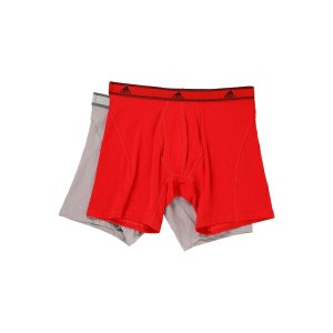アディダス メンズ ブリーフパンツ アンダーウェア Relaxed Performance Stretch Cotton 2-Pack Boxer Brief Scarlet Light Onix