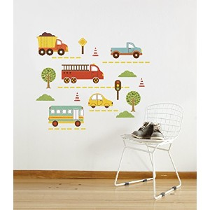 Petit Collage Wall Decal, By Land by Petit Collage