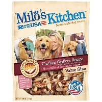 Milo's Kitchen Chicken Grillers Recipe Natural Smoke Home Style Dog Treats 18oz