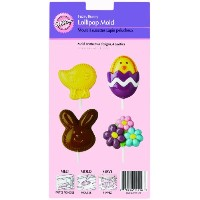 Lollipop Mold-Fuzzy Bunny 4 Cavity (4 Designs) (並行輸入品)