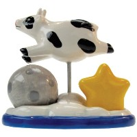 Westland Giftware Mwah Over The Moon磁気セラミックSalt and Pepper Shaker withつまようじホルダーセット、4.5-inch