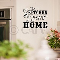 The Kitchen Is The Heart Of The Home wall saying vinyl lettering art decal quote sticker home decal...