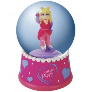 WL The Muppets Miss Piggyマルチカラー水Globe with Hearts , 45mm