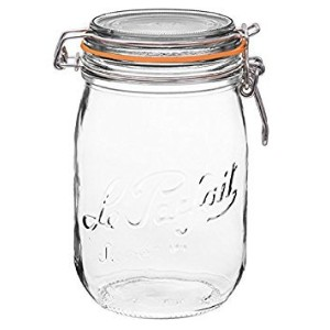 Le Parfait FrenchスーパーCanning Jar with Bail Lid – 34 oz / 1リットル 1 Liter