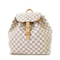 【LOUIS VUITTON】【リュックサック】ルイヴィトン『ダミエ アズール スペロン』N41578 レディース バックパック 1週間保証【中古】b06b/h17A