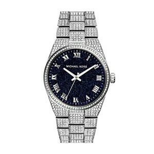 マイケルコース Michael Kors レディース 腕時計 時計 Michael Kors Channing Black Crystal Pave Stainless Steel Watch...