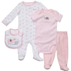 Carter's(カーターズ) ギフト4点セット(ぞう/Pink)/ 9M [並行輸入品] [Baby Product]
