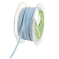 May Arts 1/8-Inch Wide Ribbon, Light Blue Suede String