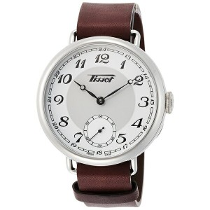 ティソ Tissot 腕時計 メンズ 時計 Tissot Heritage White Dial Leather Strap Men's Watch T1044051601200