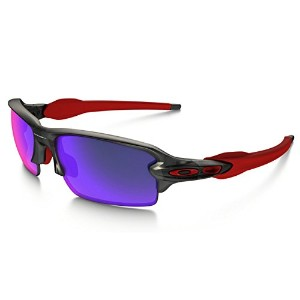 (オークリー)OAKLEY サングラスFlak 2.0 (Asia Fit)Matte Grey Smoke/Positive Red Iridium 日本正規品 ok16-oo9271-03
