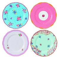 Royal Albert Candy Collection Plates, 8.0, Mixed Patterns by Royal Albert