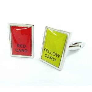 the5thlレッドカード/ Yellow Card Cufflinks Sports Cuff Links警告カードGemelos 081002 – 1