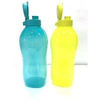 TUPPERWARE 2Liter water bottles FlipTop, Cool Water Set dispenser of 2