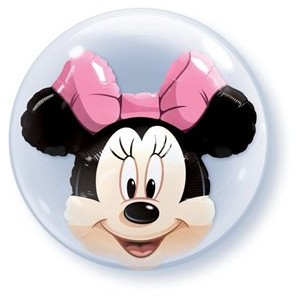 PIONEER BALLOON COMPANY Minnie Mouse Double Bubble, 24, Multicolor by PIONEER BALLOON COMPANY
