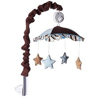 GEENNY Musical Mobile, Brown/Blue Star and Moon by GEENNY