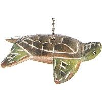 Tropical Ocean Sea Turtle天井ファンプルCarved
