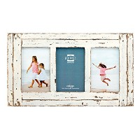 Prinz 3 Opening Homestead Wood Collage Frame, 4 x 6, White