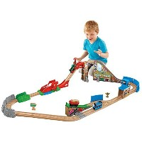 Fisher-Price Thomas the Train Wooden Railway Race Day Relay Set [並行輸入品]