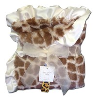 Max Daniel Baby Throw Blanket - Ivory Giraffe by Max Daniel Designs