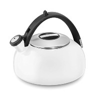 Cuisinart CTK-EOS2W Peak Porcelain Enamel on Steel Tea Kettle, White [並行輸入品]