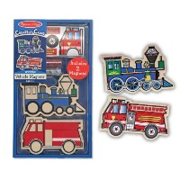 Melissa And Doug Wooden Vehicles Magnets (並行輸入品)