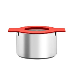 Eva Solo Gravity Cookware - Stainless Steel Diswasher Safe Sauce Pan with Multifunctional Lid (4...